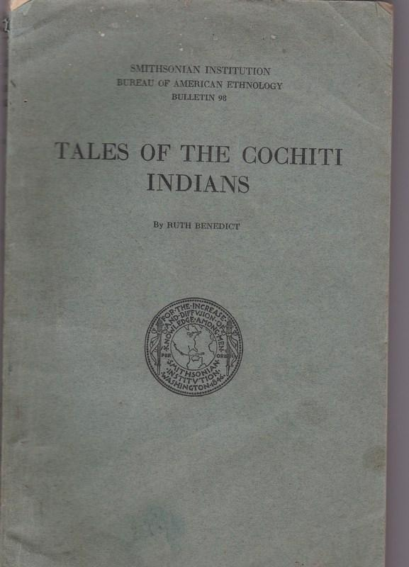 Tales of the Cochiti Indians. Ruth BENEDICT.