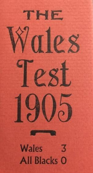 The Wales Test 1905 Match Reports & Commentary on the First Wales v. New Zealand Rugby Test Played at Cardiff Arms Park 16 December 1905
