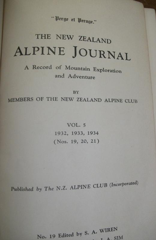THE NEW ZEALAND ALPINE JOURNAL; a Record of Mountain Exploration and Adventure. Vol. 5 1932,1933,1934.