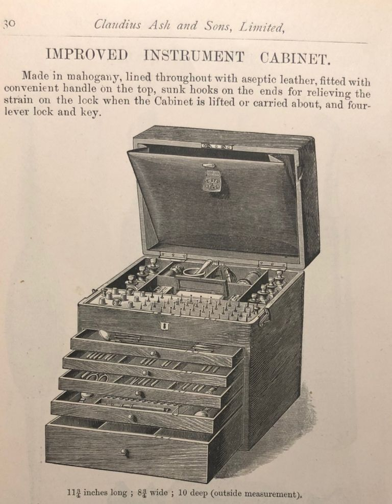 FORCEPS AND INSTRUMENT CASES. List D. Early Dental Trade Catalogue. Dentistry.