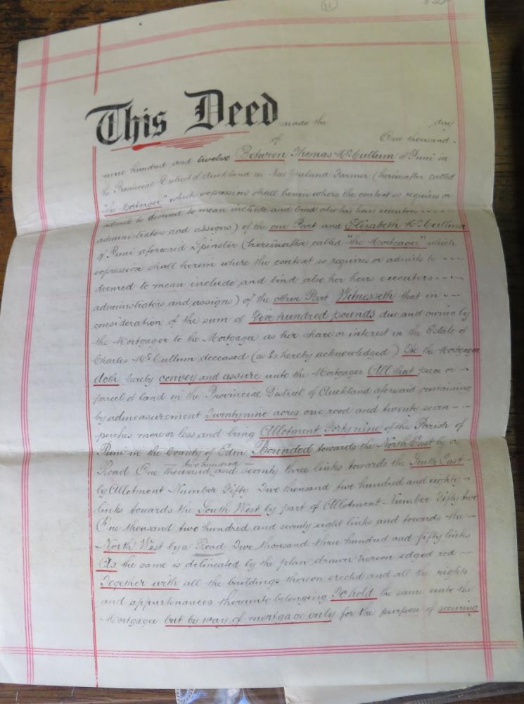 2 Documents relating to Puni Parish, McCullum