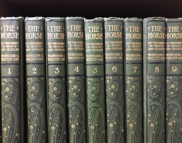 The Horse. Its Treatment in Health and Disease With a Complete Guide to Breeding Training and Management. 9 Volumes. Prof. J. Wortley AXE.