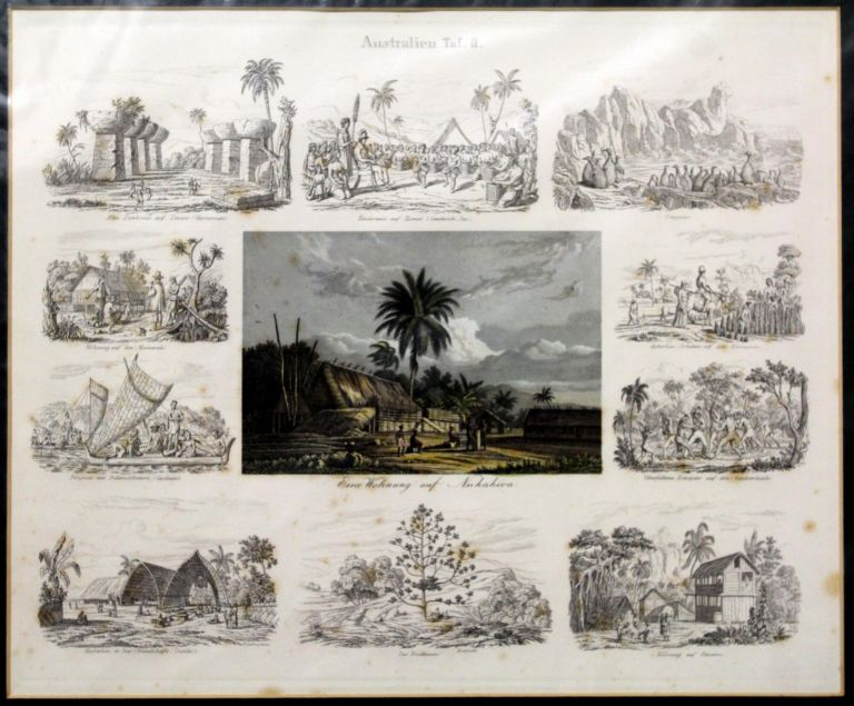 Australien Taf.II (10 images of the South Pacific) Engraving