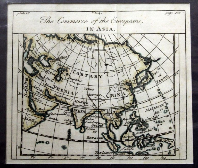 The Commerce of the Europeans in Asia Map. Alain Manesson MALLET.
