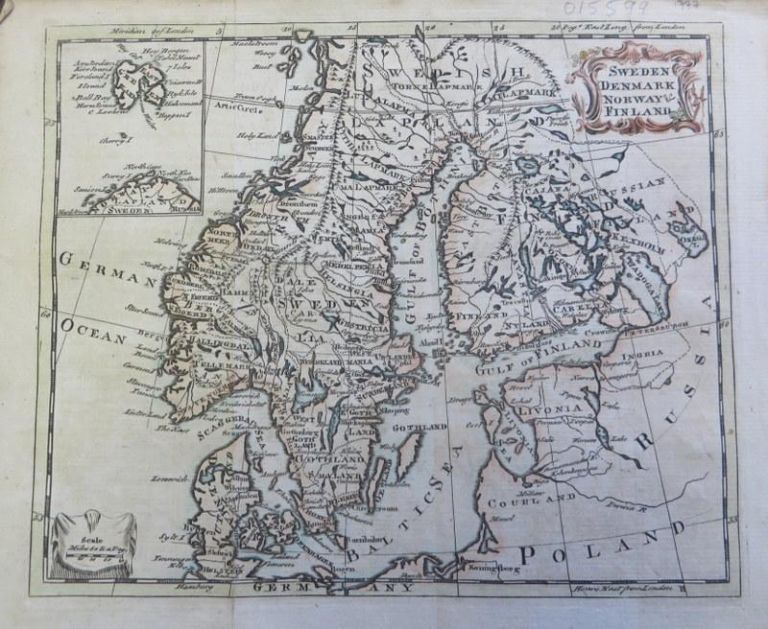 Sweden, Denmark, Norway and Finland Map