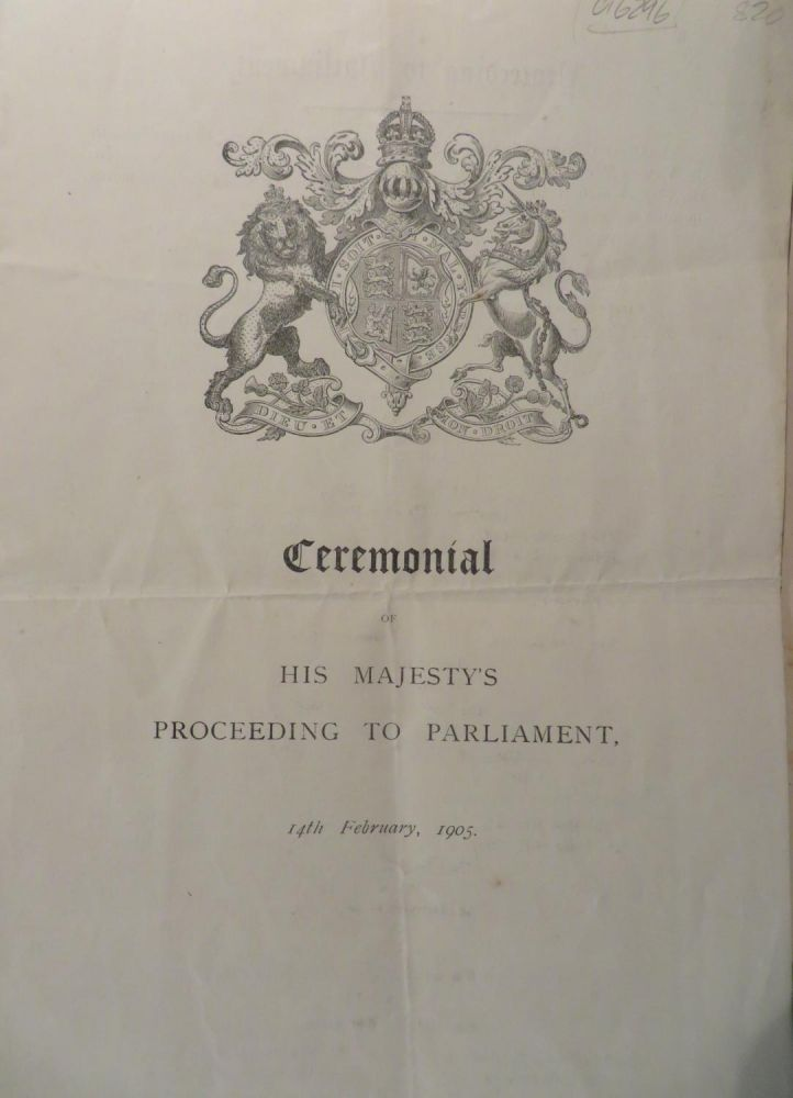 Ceremonial of his Majesty's Proceeding to Parliament, 14th February 1905, (King Edward VII)