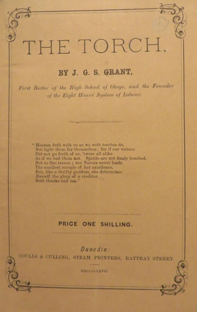 The Torch, series of articles on varied interesting subjects. J. G. S. GRANT.