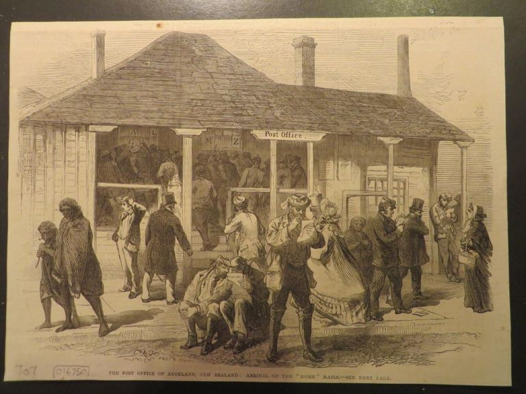 The Post Office of Auckland; Arrival of the 'Home' Mails. Auckland.