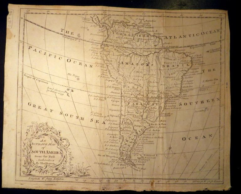 An Accurate Map of South America from the beft Authorities by Tho.s Bowen. Thomas BOWEN.