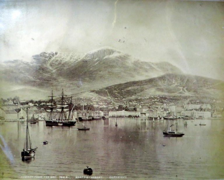 Hobart from the Bay. Beattie.