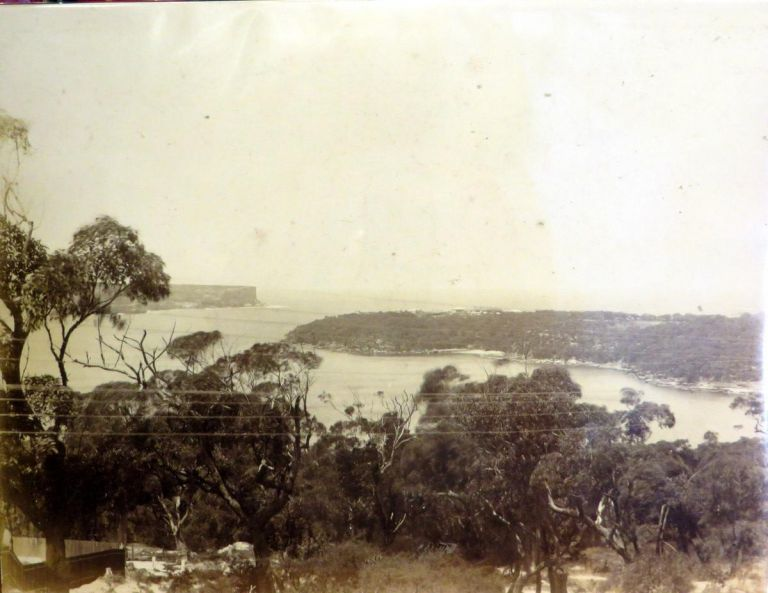 Sydney showing The Heads. Photograph.