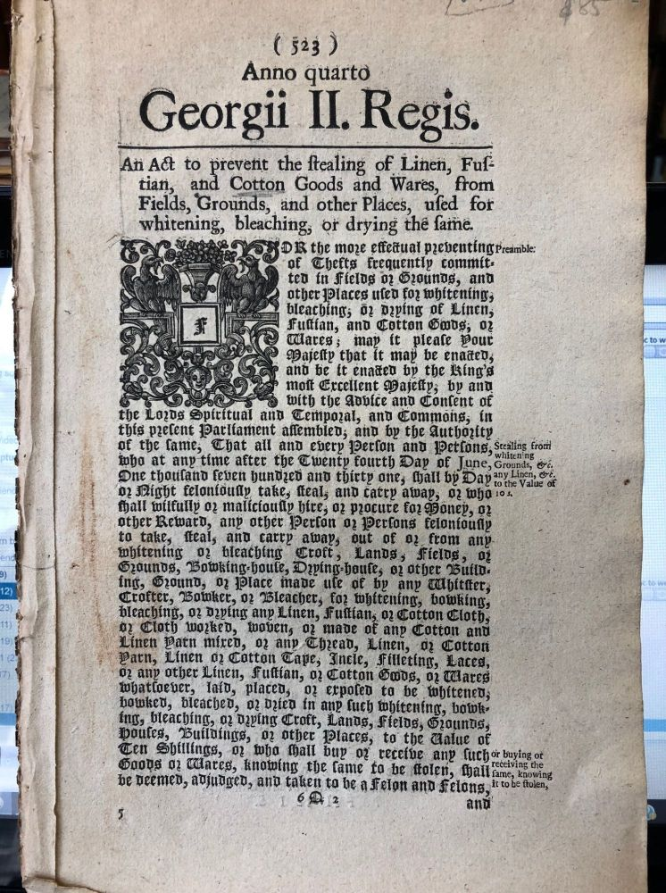 Acts of Parliament in the reign of George II.