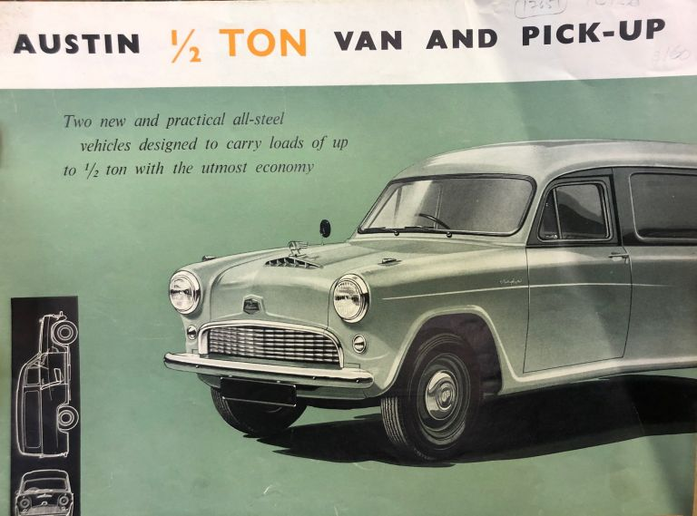 Austin 1/2 Ton Van and Pick-Up. The Austin Motor Company.