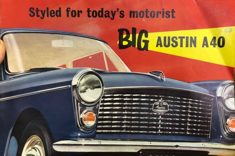 Big Austin A40. Styled for today's motorist. The Austin Motor Company.