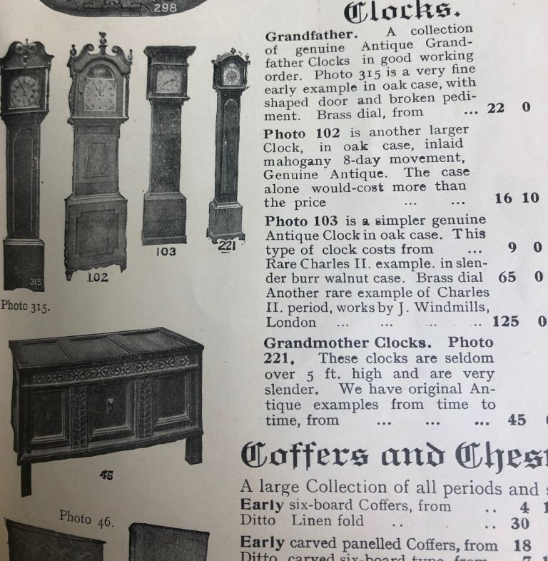 Beautiful Antique Furniture. Catalogue and Guide. The Old World Galleries Ltd.
