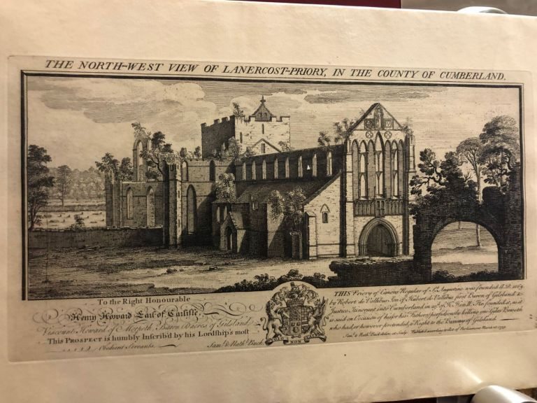 The North-West View of Lanercost-Priory, in the County of Cumberland. Samuel, Nathaniel Buck.