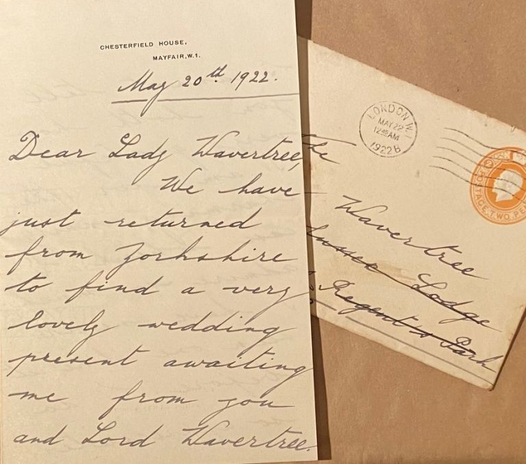 Hand-written letter. Princess MARY, Royal.