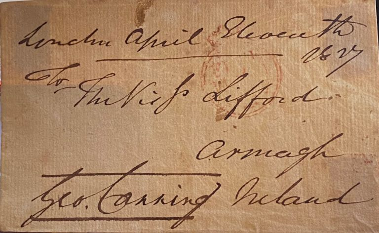 Autograph. George Canning.