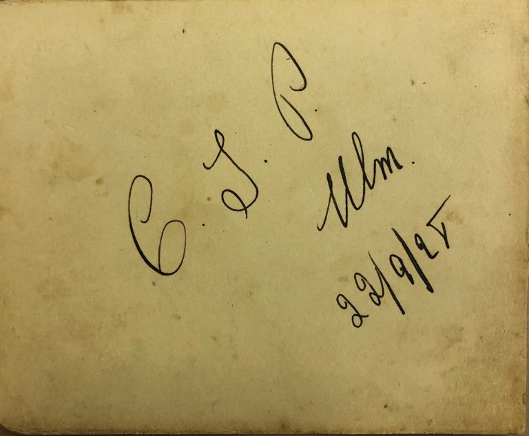 hand-written autograph. Charles Ulm.