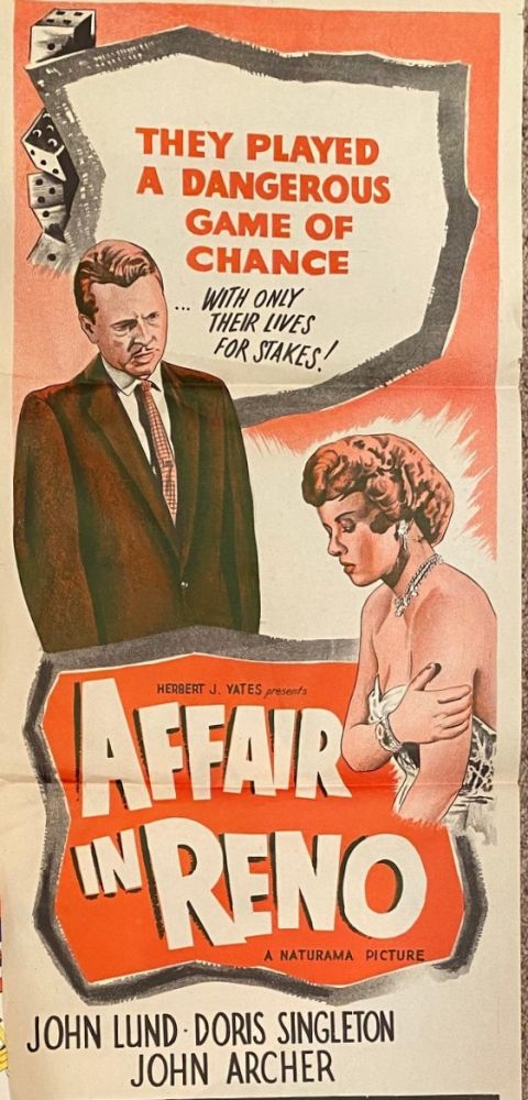 Affair in Reno. Movie poster.