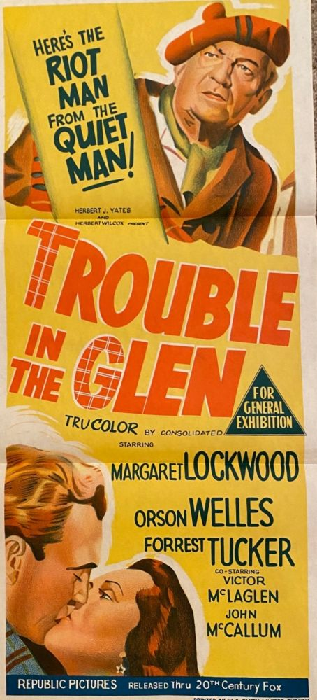 Trouble in the Glen. Movie poster.