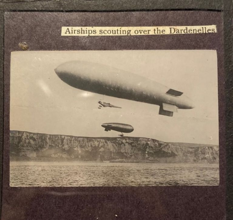 Airships scouting over the Dardenelles.