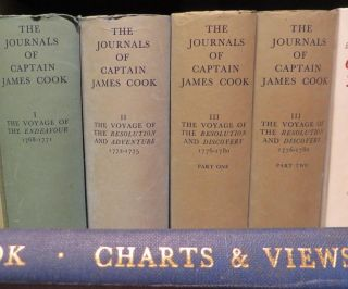 The Journals of Captain James Cook on his Voyages of Discovery 3 volumes..Vol 1 Voyage of the...