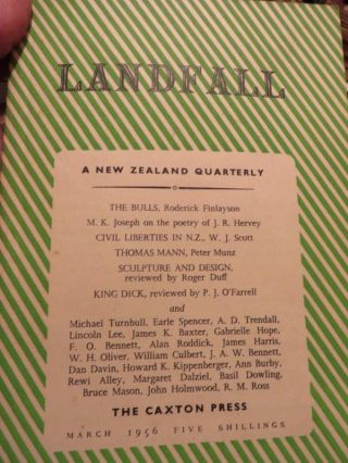 LANDFALL : a New Zealand Quarterly