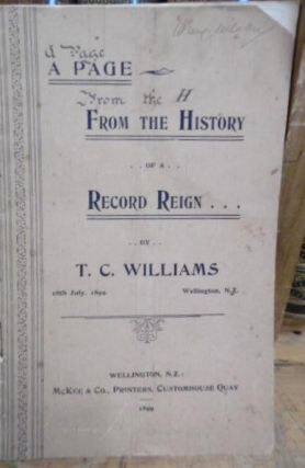 A Page From the History of a Record Reign. T. C. WILLIAMS