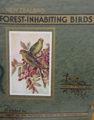 NEW ZEALAND Birds; 24 Coloured Illustrations Of Forest-Inhabiting Birds with Descriptive Letterpress