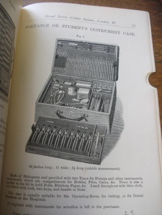 FORCEPS AND INSTRUMENT CASES. List D. Early Dental Trade Catalogue.