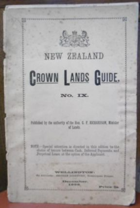 Colonisation. NEW ZEALAND CROWN LANDS GUIDE No. IX