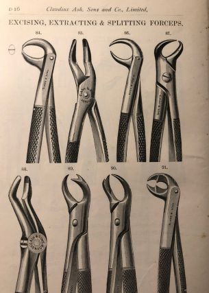 FORCEPS AND INSTRUMENT CASES. List D. Early Dental Trade Catalogue. Dentistry
