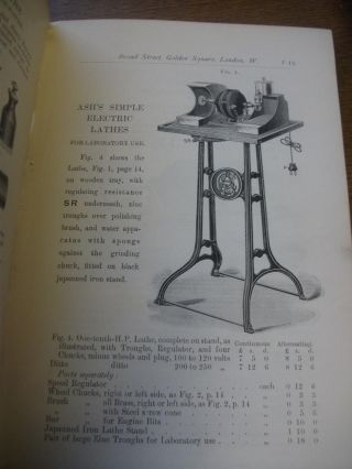 ELECTRICAL APPARATUS. List F. Early Dental Trade Catalogue