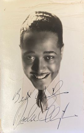 "Signed photograph. Edward Kennedy ""Duke"" ELLINGTON"