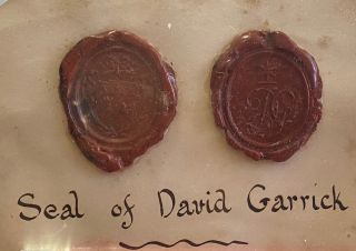 Wax seal. David GARRICK