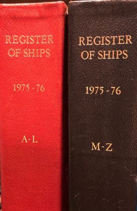 Register of Ships 1975-76. 2 Vols