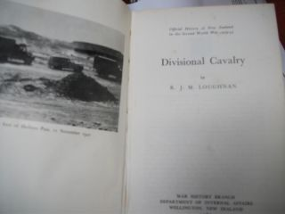 Official History of New Zealand in the Second World War 1939-45; Divisional Cavalry