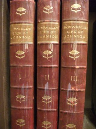The Life of Samuel Johnson, LL.D. 3 Volumes. James BOSWELL
