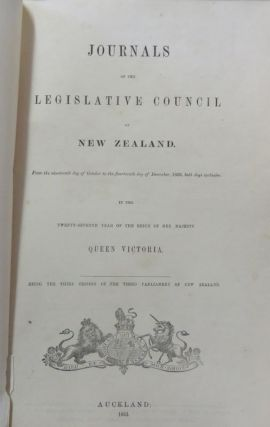 Maori Land Wars. Journals Of The Legislative Council of New Zealand. 1863. Lt Colonel William Kenny