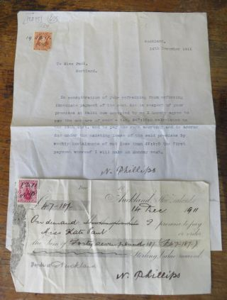 Letter and Promissory Note - Kate Paul and N. Phillips