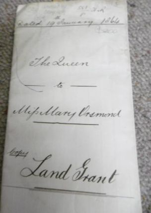 Copy of Land Grant to Mary Orsmond