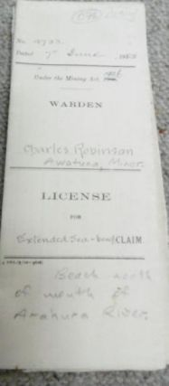 Licenses granted under 'The Mining Act, 1908'