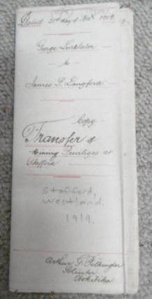 Transfer of Mining Privileges at Stafford - George Linklater to James Langford