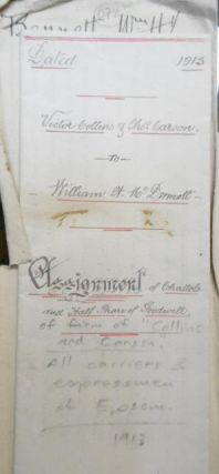 Assignment of Chattels and Half Share of Goodwill of firm of 'Collins and Carson.' Victor Collins...