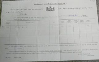Land Valuation under the Valuation of Land Act, 1908