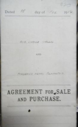 Agreement for Sale and Purchase - Ada charge Wallis and Frederick Henry Pilkington