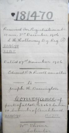 Conveyance - Edward R.N. Russell to Joseph H. Barrington