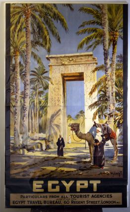 Original Egypt Tourism Poster. EGYPT TRAVEL BUREAU