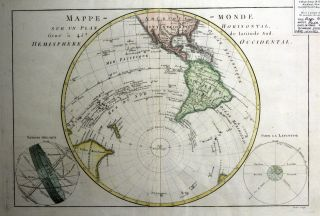 Mappe-Monde Sur Un Plan Horisontal, Situe a 45d de Latitude Sud. Hemisphere Occidental